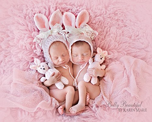 Classic Bunny Bonnet And Stuffie Set Knit Pattern - Sizes Newborn Baby Through Toddler Included front-352213