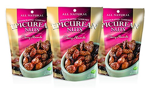 Epicurean Gourmet Nuts Gift Set, Cherry Almonds 3-Pack, Perfect as a Thank You Gift or for Any Occasion, Small-Batch Kettle Roasted for Superior Freshness, Nuts Never Tasted This Good (Chili Honey Almonds compare prices)