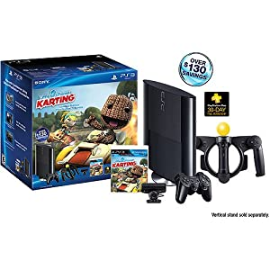 PS3 Slim 250GB Little Big Planet Karting Move Bundle (PlayStation 3) by Sony
