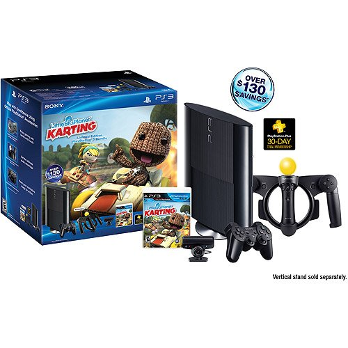 PS3 Slim 250GB Little Big Planet Karting Move Bundle (PlayStation 3) приставка sony playstation 4 slim 1tb fifa18
