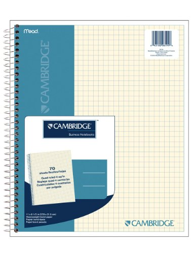 Cambridge Quad Wirebound Notebook 70ct (06194)