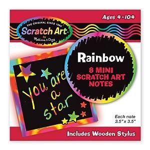 Rainbow Mini Scratch Art Notes from Melissa & Doug