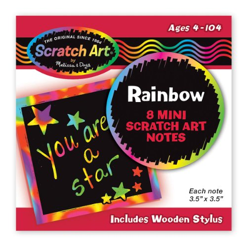 Rainbow Mini Scratch Art Notes 1 item (8 pages per item) - 1