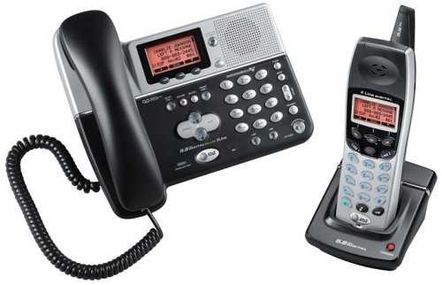 AT&T EP5962 5.8 GHz 2-Line Corded/Cordless Phone with Answering System
