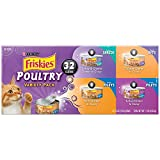 Friskies Wet Cat Food, Poultry, 4-Flavor Variety Pack, 5.5-Ounce Can, Pack of 32