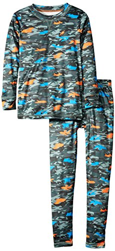 Cuddl Duds Big Boys' Climate Smart Essential Poly 2-Piece Set, Mimi Multi Camo, Medium
