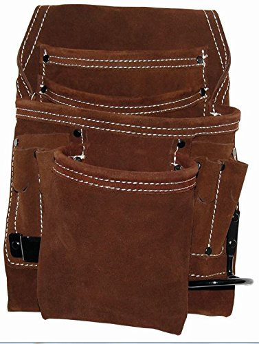 Bucket Boss 54063 10 Pocket Suede Leather Tool Pouch (Plumbers Tool Pouch compare prices)