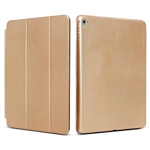 "iPad Pro 9.7 ""Case, JGOO [Full Body Protection] Ultra Slim Folio Abdeckung mit Standplatz und Magnetic Smart Cover Auto-Spur-Schlaf On / Off-Funktion, Klassische Eleganz Stil f¨¹r iPad Pro 9.7 Zoll (2016 Release), Gold"