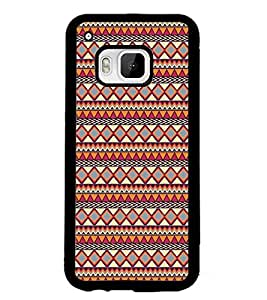 PrintDhaba Tribal Pattern D-5423 Back Case Cover for HTC ONE M9S (Multi-Coloured)