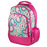 Reinforced Design Water Resistant Backpack (Mint Paisley)