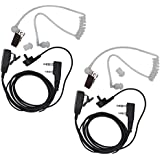 Tenq® 2-pin Covert Acoustic Tube Earpiece Headset for Kenwood Puxing Wouxun Baofeng Two Way Radio 2pin (2 Packs)