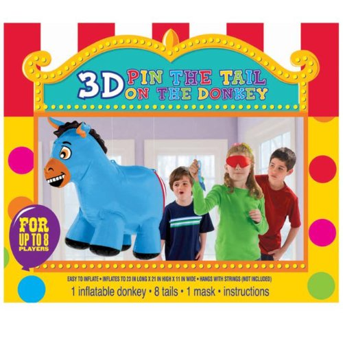 Amscan 201425 Inflatable 3D Pin the Tail on the Donkey Game