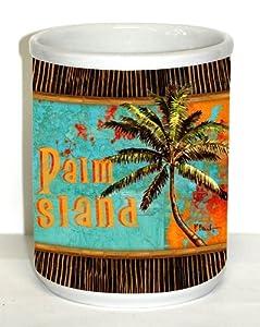 Palm Island Ceramic Utensil Crock
