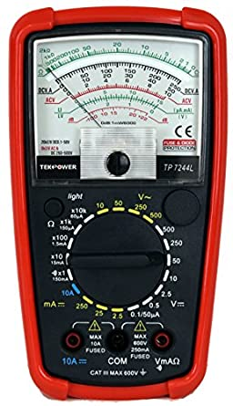 analog multimeter how to read