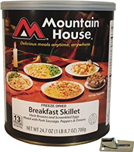 Mountain House Freeze Dried Breakfast Skillet with Free Can Opener by Mountain House