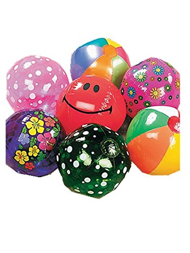 Mega Beach Ball Assortment (50 pieces) - Bulk by Oriental Trading Company