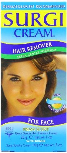 Surgi-Care Surgi-Cream Hair Remover for Face, Extra Gentle, Fresh Scent-1.5 oz