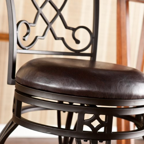 SEI Georgetown Swivel Bar Stool, Bronze