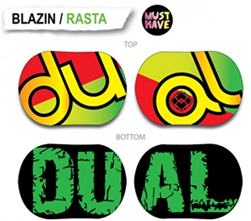 Dual Snowboards Blazin Rasta B Snowboard, Red/Gold/Green/Black Base, 76cm