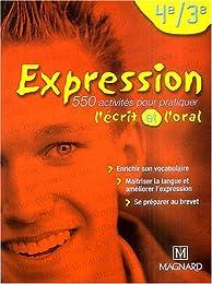 Expression 4e et 3e : Manuel élève
