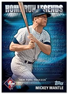 2012 Topps Prime Nine Home Run #6 Mickey Mantle - New York Yankees (Limited Edition Hobby Only Promo) (Baseball Cards)