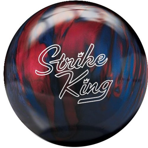 Brunswick Strike King Bowling Ball, Red/Blue Pearl, 12-Pound