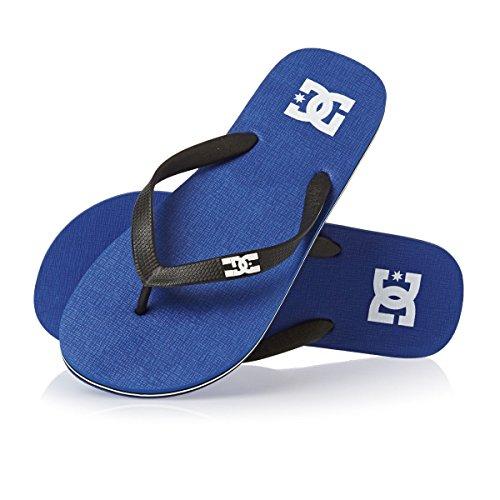 DC Flip Flops - DC Spray Flip Flops - Blue/blac...