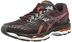 Asics Gel-nimbus 17, Chaussures de Running Entrainement Homme -  Noir (black/hot Orange/deep Ruby 9030) 48.5 EU