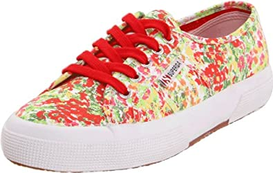 Superga 2750 Fantasy Cotu,Garden Red/Green,42 EU/9 M US