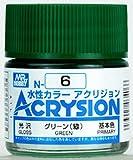 【水性アクリル樹脂塗料】新水性カラー アクリジョン グリーン(緑) 光沢 N6