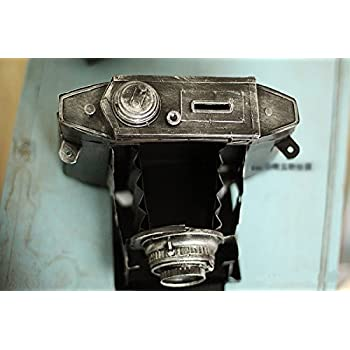 WWJ/ Vintage Tin piggy imitate the camera Olympus wrought iron decorative window decoration