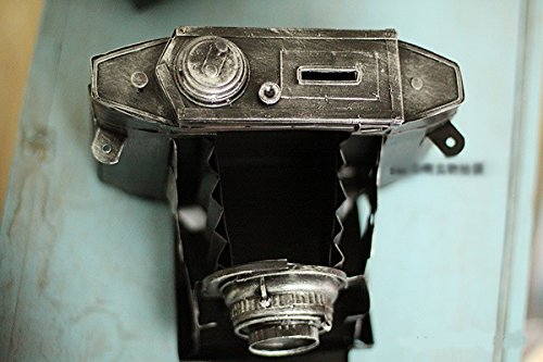WWJ/ Vintage Tin piggy imitate the camera Olympus wrought iron decorative window decoration 2