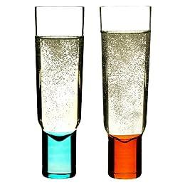 Product Image Champagne Glass set of 2 - Blue & Orange (6 oz.)