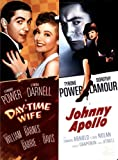 Johnny Apollo DVD (1940) Tyrone Power, Dorothy Lamour / Day-Time Wife (1939) Tyrone Power / Double Feature Movie