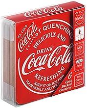 Comprar Coca Cola de posavasos de corcho, 6 unidades, rojo
