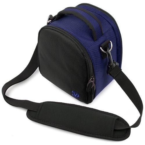 Laurel Compact Edition Navy Blue Nylon DSLR Camera Handbag Carrying Case with Removable Shoulder Strap for Pentax K-r 12.4 MP Digital SLR Camera / Pentax K-x 12.4 MP Digital SLR