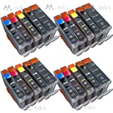 PGI-5 CLI-8 (20) Ink Cartridges Compatible for Canon Pixma iP4200 IP 4200 printer inkjet Latest Chip - Ready For Use