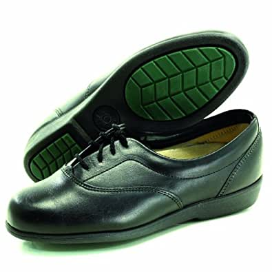 task footwear 3851 womens black work shoe 6 b