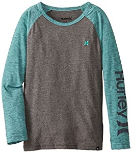 Hurley Big Boys' O&O Slub Baseball, Grey Heather, Medium