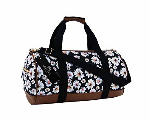 canvas-travel-holdall-duffel-weekend-overnight-daisy-floral-print-bag-ql6151k-black