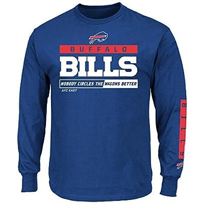 Buffalo Bills Majestic NFL Primary Receiver 2 Long Sleeve Men's T-Shirt