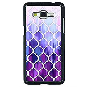 Jugaaduu White Purple Moroccan Tiles Pattern Back Cover Case For Samsung Galaxy Grand Prime G530H