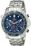 Omega Men's 21230445003001 Seamaster Analog Display Automatic Self Wind Silver Watch