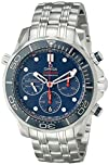Omega Mens 21230445003001 Seamaster Analog Display Automatic
