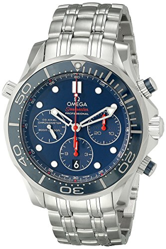 Omega Seamaster Diver 300 m Co-axial cronógrafo reloj de los hombres 212,30,44,50,03,001