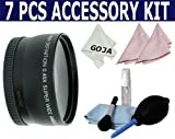 7 Pcs Kit for NIKON D60 D80 D40 D300S D3000 D5000, includes: 52MM 0.45X Wide Angle Lens with Macro + Cleaning Kit + Caps+ Bag + 3 Ultra Fine Microfiber Cleaning Cloths GOJA Logo