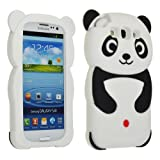 Black Panda Silicone Soft Gel Skin Case Cover For Samsung Galaxy S3 i9300 (AT&T, T-Mobile, Sprint, Verizon)