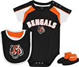 Cincinnati Bengals Newborn Black Team Creeper, Bib, Bootie Set Amazon.com