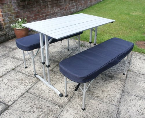 Camping Table / Picnic Table with Two Padded Benches