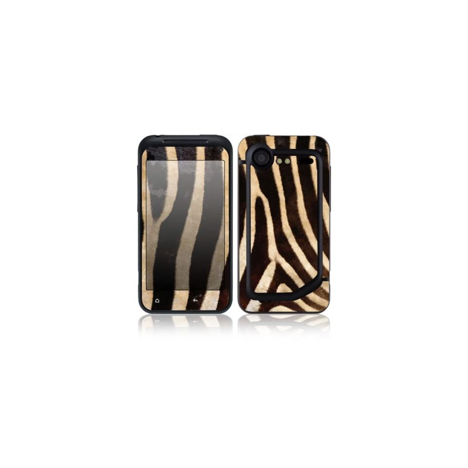 Zebra Print Design Decorative Skin Cover Decal Sticker for HTC Incredible S / Incredible 2 Cell Phone